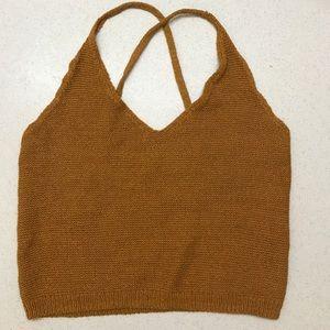 Anthropologie knit crop top